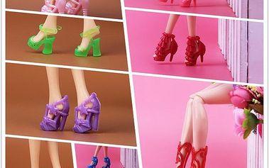15 párů bot pro panenku Barbie
