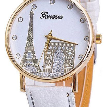 Dámské hodinky s motivy Paříže - mnoho barev