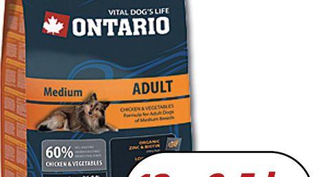 ONTARIO Adult Medium 13 kg + 2,5 kg zdarma