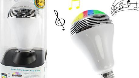 LED chytrá Bluetooth žárovka s reproduktorem