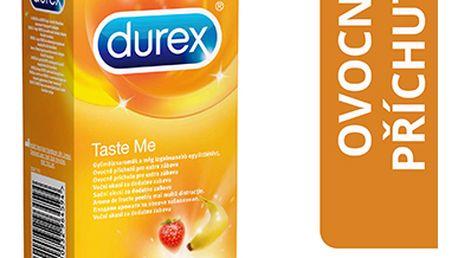 Durex Taste Me barevné kondomy s příchutí 12 ks
