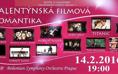 Valentýnský koncert romantických melodií Hollywoodu, 14.2. od 19:00 v kostele U Salvátora!