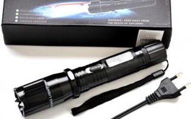 Trojkombinace: Kovová akumulátorová svítilna POLICE, paralyzér a laser