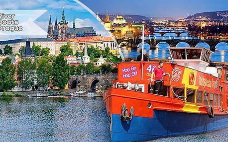 Jedinečná hodinová plavba lodí po Vltavě pro 1 osobu! Karlův most, Pražský hrad, Národní divadlo!