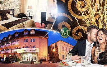 Parkhotel Morris Nový Bor na 3 dny pro dva s plnou penzí, galavečeří, aquaparkem a privátním wellness!