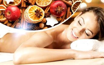 Masáž s vůní punče, jablka a skořice i perníku, nebo marocká či andělská masáž v délce 45 i 60 min.