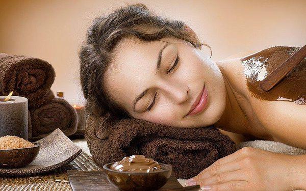 60minutová masáž, peeling a zábal z pravé čokolády