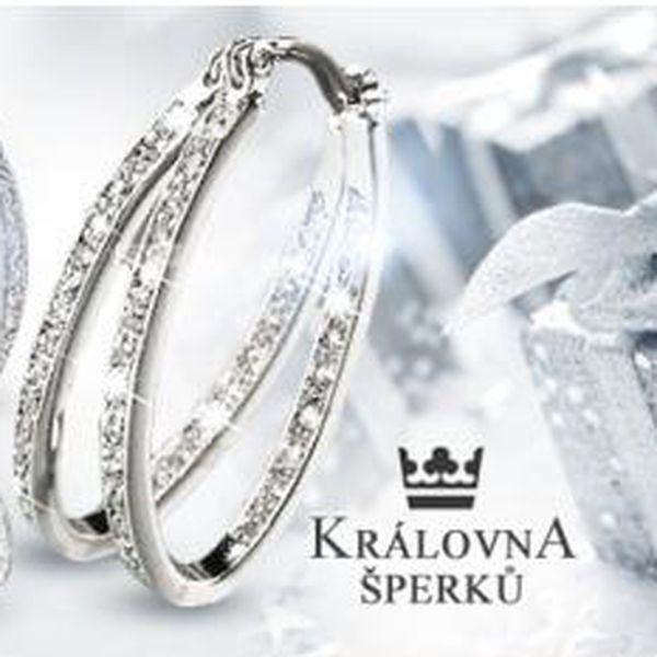 Náušnice kroužky či kruhy z chirurgické oceli 316L s krystaly Swarovski Elements z vnější i vitřní strany vč. poštovného.
