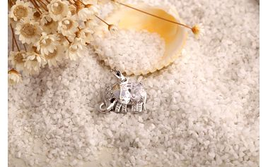 Přívěsek slon s krystalem