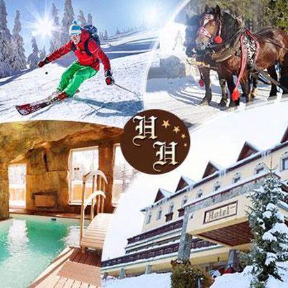 Zimní pobyt na 3 dny pro 2 osoby s polopenzí, bazénem, fitness a jízdou na saních s koněm u Čadci na Kysucku!