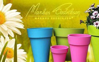 Květináč Markus Pedriksen Sasha, růžový, 38x38x51 cm