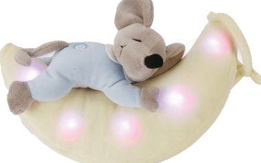 ANSMANN Plyšové zvířátko se světýlkem – myška na měsíci
