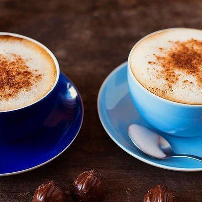 Káva a dezert pro dvě osoby
