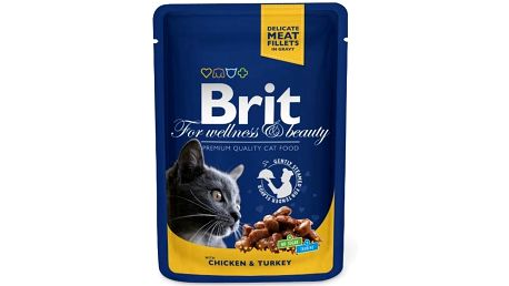 Brit Premium Cat kapsička with Chicken & Turkey 100 g