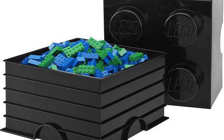 Úložná kostka LEGO, černá