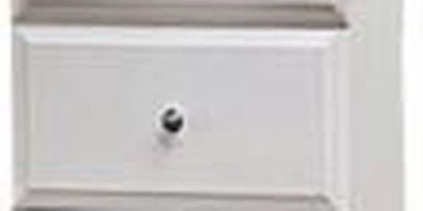 Koupelnová skříňka SD 304 vysoká volně stojící (bílá, lesk)