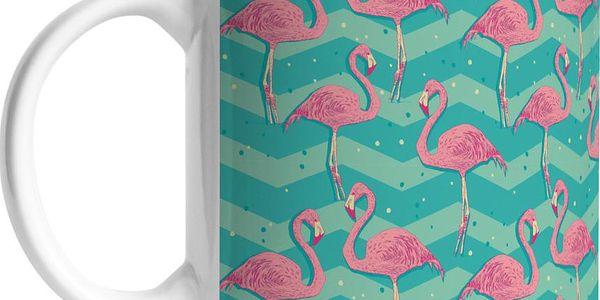 Keramický hrnek Flamingo Birds, 375 ml