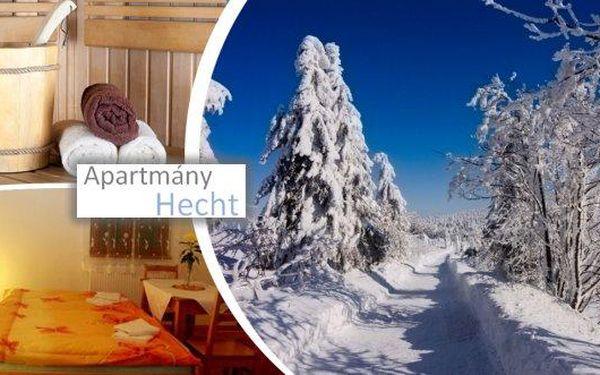 Romantický wellness pobyt pro dva na Lipně na 3, 4 nebo 7 dní v příjemných apartmánech Hecht!! Polopenze, vyhřívaný vnitřní bazén, finská sauna, u delších pobytů navíc masáž pro oba, slevy na wellness, solnou jeskyni, stezku korunami stromů a další výhodn