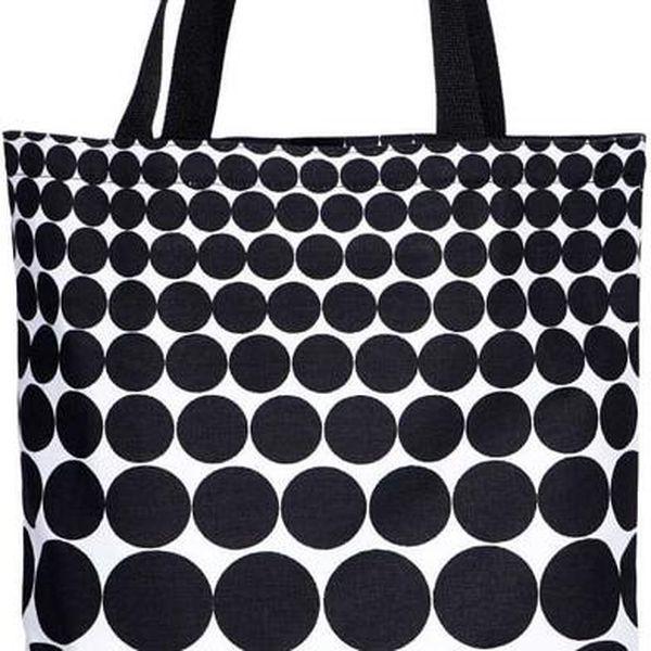 BLACK & WHITE Taška puntíky