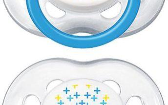 AVENT Dudlík sensitive Fantazie, 2 ks (6 - 18 měsíců) – žlutý a modrý