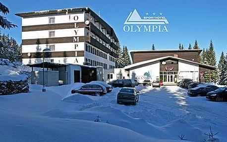 Sporthotel Olympia *** na Šumavě s polopenzí, fitness a slevou na skipas
