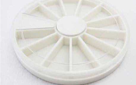 Bílé kolečko s 12 chlívečky