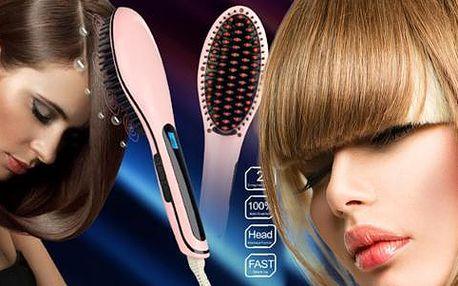 Ionizační kartáč na žehlení vlasů s LCD displejem, poštovné zdarma