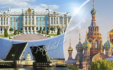 Rusko, Petrohrad. 6denní zájezd pro 1 os. + doprava, služby delegáta a ubytování na 3 noci, 3x snídaně. Akce dnes končí.