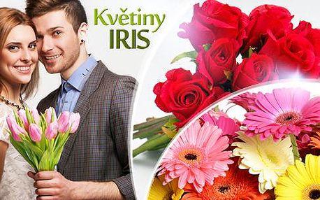 Kytice z květin dle vašeho výběru - tulipány, gerbery či růže. 1 voucher = 1 květina