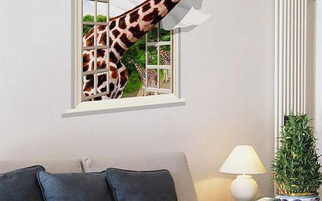 3D samolepka na zeď Žirafa
