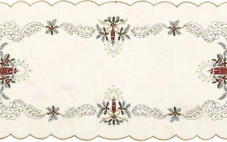 Jahu Vánoční ubrusový běhoun Zvony, 37 x 86 cm