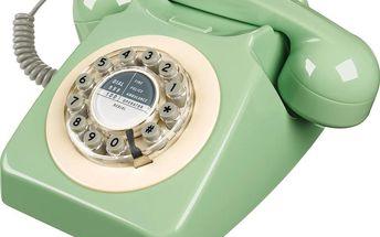 Retro funkční telefon Serie 746 Green