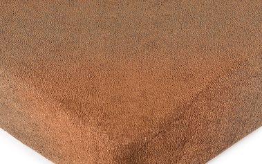 4Home froté prostěradlo hnědá, 180 x 200 cm