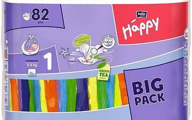 Plenky Bella Baby Happy New Born Big Pack 82 ks + 1x Ubrousky čistící Bella Baby Happy 24 ks (zdarma)