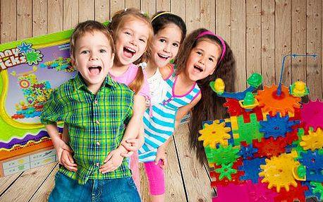 Originální stavebnice - Rotující kolečka! Chytrá hračka pro děti rozvíjející motoriku a tvořivost zábavnou formou!
