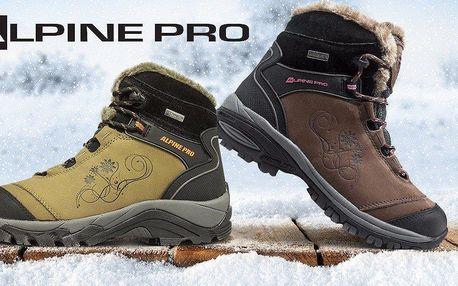Dámské zateplené zimní boty od Alpine Pro