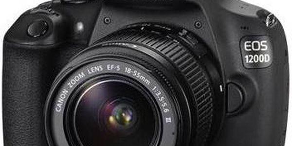 Canon EOS 1200D černý + 18-55 DC + 8GB černý + Doprava zdarma