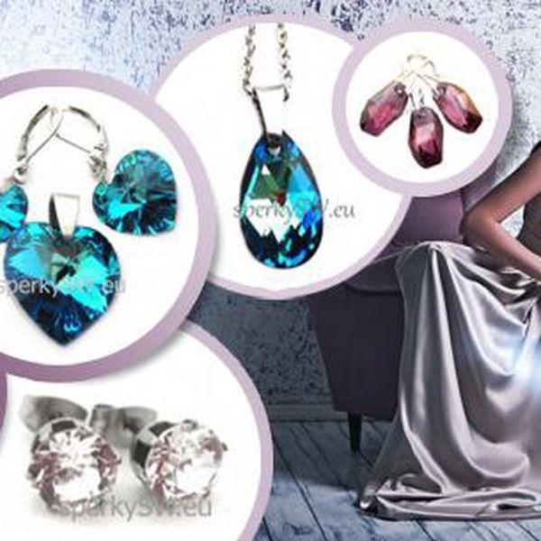 Luxusní šperky Swarovski elements. Prsteny, řetízky s přívěsky či náušnice vč. poštovného.