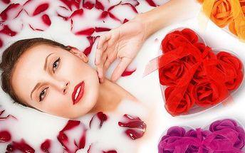 9 ks valentýnských aromatických růží do koupele v několika barvách