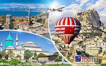 Turecko - Kappadokie nebo Lykie a riviéra letecky! Luxusních 8 dní pro 1 osobu se snídaněmi a programem!