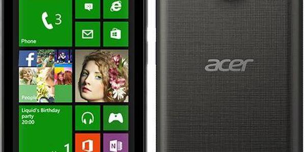 Acer Liquid M220 Single SIM (HM.HMPEU.001) černý + dárek Pouzdro na mobil flipové Acer pro M220 - bílé (zdarma) + Pouzdro na mobil Ferrari Scuderia V3 - červené v hodnotě 147 Kč jako dárek