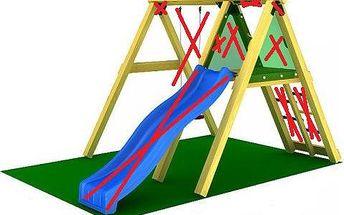 Dřevěná hrací sestava Jungle Gym Jungle Peak 240 cm