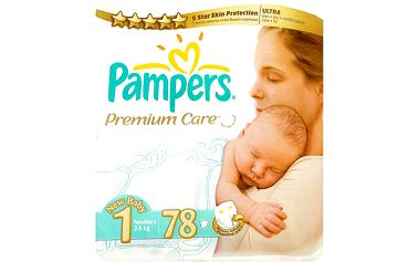 Pampers Premium Care Pleny 1 Newborn 78 ks