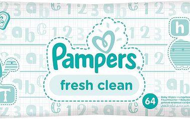 Pampers Vlhčené Ubrousky Baby Fresh 4 x 64 ks