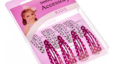 Fashion Icon Dětské dívčí sponky do vlasů puntík - malé