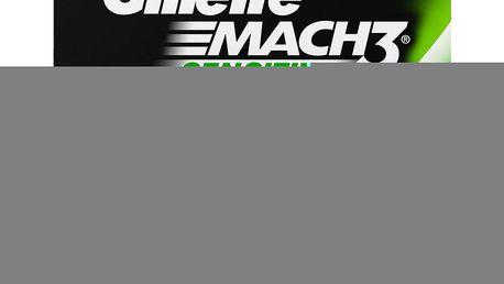 Gillette Mach 3 Sensitive náhradní hlavice do holicího strojku 4 ks