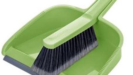 Smetáček s lopatkou CLEAN KIT, zelená