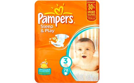 Pampers Sleep&Play Pleny 3 Midi 78 ks