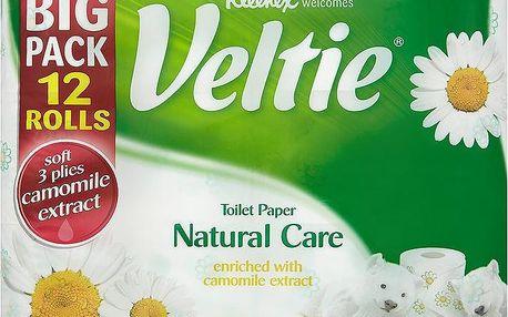 Kleenex Veltie toaletní papír s vůní heřmánku - 3vrstvý 12 rolí