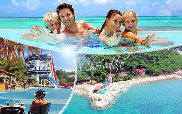 Chorvatsko, Biograd - léto 2016! 8 dní pro 1 osobu s plnou penzí v penzionu 500 m od pláže s tobogánem!